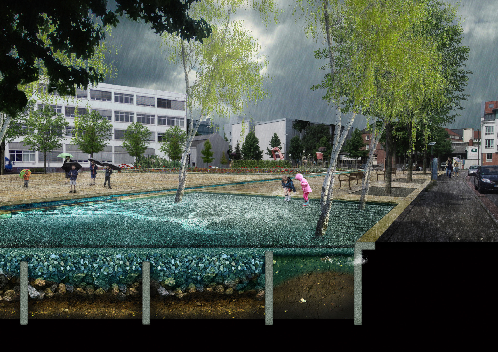 "© Foto: Leitfaden ""Wassersensible Siedlungsentwicklung"""